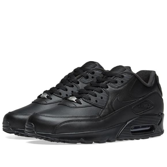 Nike Air Max 90 black leathers sneakers